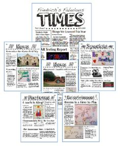 Newspaper Book Report Fiction  NonFiction Book Report Newspaper