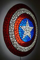 Side of Captain America's Shield in Stained Glass by mclanesmemories