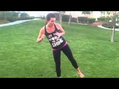 Thigh & Glutes Workout: About 10 minutes with squats, lunges, kicks, etc. Brooke is a trainer, and a health and fitness specialist  in Las Vegas.