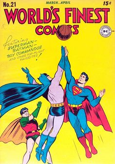 I thought Batman and Superman were high fiving and leaving poor Robin out of it at first. xD
