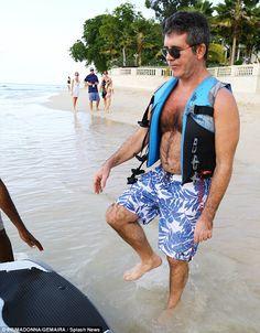Barbados Beaches, Simon Cowell, Beach Fun, Wetsuit, Cover Up, Swimwear, Dresses, Fashion, Scuba Wetsuit