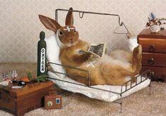 Rabbit Get Well Card