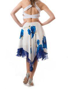 La falda Tango Argentino flores tango falda por TheGiftofDance