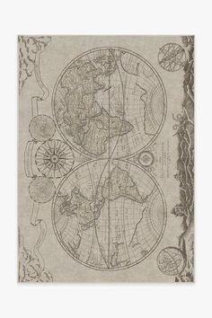 Sailor's Map Rug | Washable Rug | Ruggable New World Map, Map Rug, Nautical Rugs, Machine Washable Rugs, Diy Carpet, Wall Carpet, Modern Carpet, Carpet Ideas