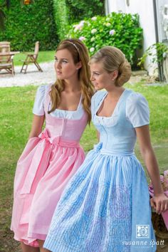 Our sisters needed help for the Octoberfest celebration they run so Tom and Chuck became Vicki and Tina. Feminine Dress, Feminine Style, Drindl Dress, German Costume, Beer Girl, German Women, Sweet Dress, Girly Outfits, Traditional Dresses
