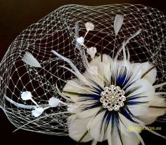 Hey, I found this really awesome Etsy listing at https://www.etsy.com/listing/51180278/fascinator-veil-set-something-blue