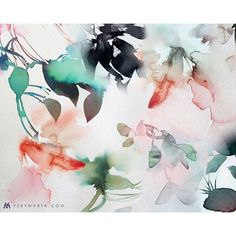 Today is full of looooove! Abstract Art : Marta Spendowska http://verymarta.com  #abstractart #watercolor