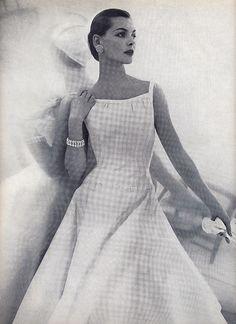 white pique Vogue 1955