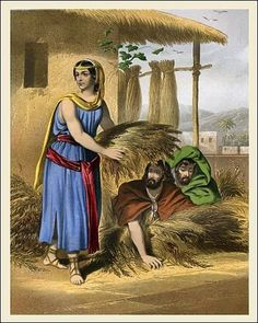 """Matthew 1:5:  and Salmon the father of Boaz by Rahab, and Boaz the father of Obed by Ruth, and Obed the father of Jesse"""" This list of names is part of the Christ's genealogy. Chroniclers didn't need to include women in a genealogy, but the author of Matthew's Gospel included 4 such women. He lists Tamar, Rahab, Ruth and Bathsheba. http://www.alabaster-jars.com/biblewomen-r.html"""