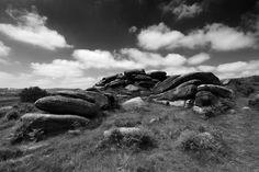 Gritstone rock formations on Lawrence Field, Grindleford village, Derbyshire County; Peak District National Park - Limited Edition of 20 Photograph Digital Photography, Landscape Photography, Photo Canvas, Canvas Art, Black And White Landscape, Peak District, Photorealism, Rock Formations, Derbyshire