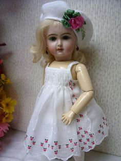 "bleuette dolls on ebay | Details about Bleuette 5 Piece Hanky Sundress Outfit 11"" Doll"