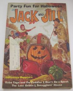 Jack and Jill Magazine October 1974 Halloween Jack O' Lantern Cover