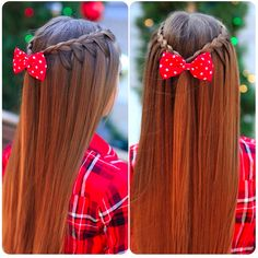 Absolutely Bow-tiful: For a casual outing/date with your loved one, try this upside down lace braid! Whether you are laying on the couch watching a movie, or riding roller coasters at an amusement park, this hairstyle will stay firmly in place the entire day! Add a cute bow, like the one in the picture, to your hairstyle for a more feminine look! (Photo Credit: @cutegirlshairstyles on Instagram) ~Brittany