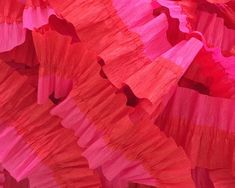 Flame Red and Bombay Pink Ruffled Crepe Paper Streamers - Valentine's Day - 36 feet - Paper Decor Supplies by CharmiosCraftParty on Etsy https://www.etsy.com/listing/251495213/flame-red-and-bombay-pink-ruffled-crepe