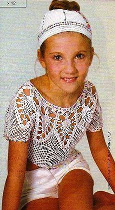 Блузка для девочки «Ананасы» | Домоводство для всей семьи
