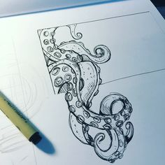 hippie painting ideas 831688256167973408 - 'Tentacles II' Source by aurelienahon Dibujos Tattoo, Desenho Tattoo, Ink Illustrations, Illustration Art, Tentacle Tattoo, Animal Drawings, Art Drawings, Octopus Art, Octopus Tentacles Drawing