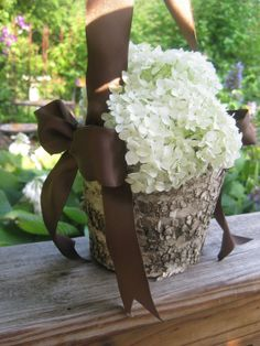 """Cute for """"country"""" wedding!!! The flower girl basket!"""