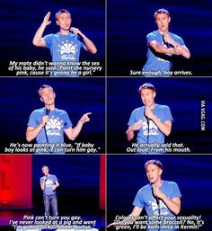 Russell Howard everybody. And yet more smearing of kermit's image (see my 'simultaneously appalled and impressed' board for the ultimate muppet trauma)