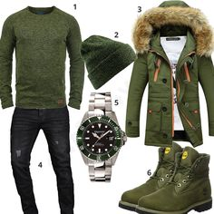 Grünes Herrenoutfit mit Dockers und Parka (m0772) #outfit #style #herrenmode #männermode #fashion #menswear #herren #männer #mode #menstyle #mensfashion #menswear #inspiration #cloth #ootd #herrenoutfit #männeroutfit