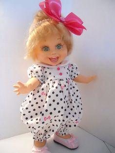 Bubblesuit Romper Set Hot Pink Galoob Baby Face Doll Clothes #HomespunKat #ClothingAccessories
