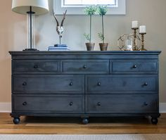 Bedroom Dresser. RH Bedroom Dresser. Zinc dresser and lamp are by Restoration Hardware and rug by Curran. Bedroom dresser #bedroom #dresser #RHdresser #bedroomdresser Restyle Design, LLC.