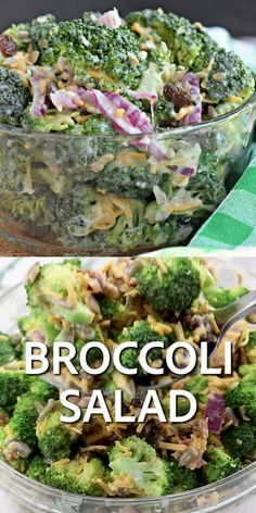 Every potluck needs this easy Broccoli Salad on the table. With broccoli, cheddar cheese, red onion, and bacon topped with a sweet and tangy dressing, it's the perfect summer side dish!