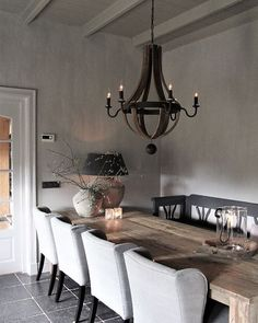 592 likes, 34 reactions – Frieda Dorresteijn ( to Ins … - Best Kitchen Decoration 2019 Shabby Chic Decor Living Room, Living Room Grey, Rustic Interiors, Living Spaces, Sweet Home, House Design, Interior Design, Decoration, Furniture