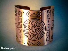 Artizan in cupru Copper Bracelet, Copper Earrings, Copper Jewelry, Cuff Bracelets, Jewelry Crafts, Jewelry Art, Copper Artwork, Copper Gifts, Marker