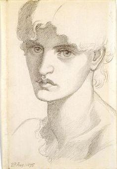Mrs William Morris (1875) D G Rossetti