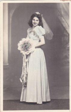 Antique Bride Cabinet Original Photo Post Card Bellino Studio Philadelphia | eBay