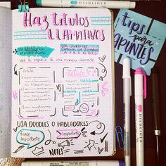 Hola amigos hoy les traigo algunos tips para que sus apuntes se vean más bonitos :) . . . #studytips #studytips #estudio #tipdeestudio #apuntes #lettering #apuntesbonitos #notes #notespiration #studygrammer #studygram #studyblr #studymex #studygrammex #papeleria #stationery #pens #bulletjournal #bujo #studymotivation #studying #studynotes #studygramcolombia Studyblr, Bujo, Bullet Journal, Ideas, Studio, Friends, Colors, Thoughts