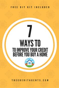 Are you looking to buy a home soon? If so, you need to read this article. 7 Ways To Improve Your Credit Before You Buy A Home. Buying Your First Home, Home Buying, Looking To Buy, Credit Score, Diy Kits, Personal Finance, Improve Yourself, Stuff To Buy, Tips