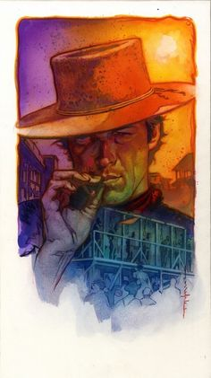 Stelfreeze - Clint Eastwood Comic Art