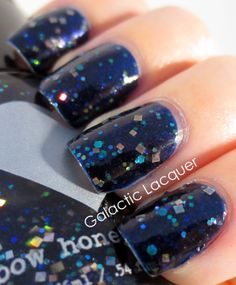 Galactic Lacquer: Rainbow Honey - Tera Flame and Sapphire Weapon