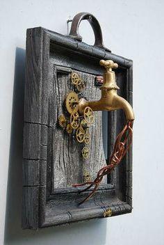 Frame Crafts, Metal Crafts, Steampunk Crafts, Coin Art, Sculpture Art, Metal Sculptures, Abstract Sculpture, Bronze Sculpture, Steel Art