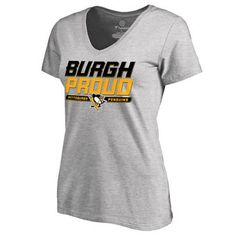Women's Pittsburgh Penguins Black Hometown Collection Burgh Proud Slim Fit T-Shirt