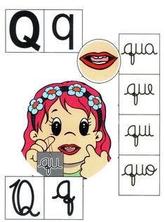 Letra Q mayúscula, q minúscula.