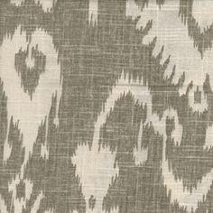 Bristow Smoke Ikat Drapery Fabric; white and grey ikat linen