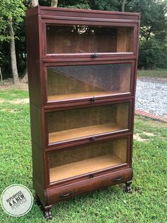 Cabernet Lawyers Bookcase | General Finishes Design Center Paint Furniture, Furniture Design, Water Based Wood Stain, General Finishes, Wise Owl, Natural Wood, Repurposed, Bookcase, Stains