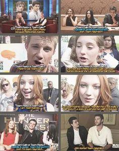 The Hunger Games - Team Peeta or Team Gale? Haha, we made up Team Haymitch. :)