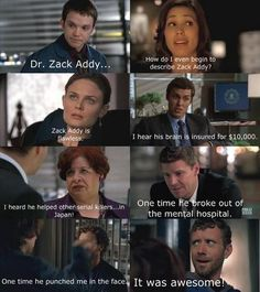 The Guys of Bones Fan Art: How do I even begin to describe Zack Addy?