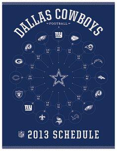 Dallas Cowboys 2013 Schedule