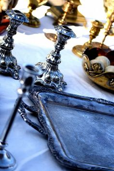 candlesticks and trays..i want these!