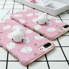 18c862913f5 Cute Seal Doll Soft Squishy Rabbit Phone Case Cover For Iphone 6 7 7 Plus