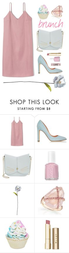 """""""brunch"""" by anagylinduska ❤ liked on Polyvore featuring Rupert Sanderson, Ted Baker, Essie, Shabby Chic, Forever 21, Stila, nude and brunchgoals"""