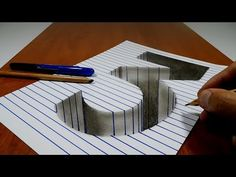 Try to do 3D Trick Art on Paper, Floating arrow with stairs - YouTube