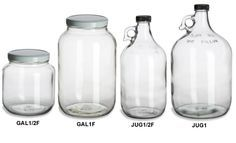 This site has a variety of glass jars and bottles for super cheap! Mason jars, colored bottles, these great glass jugs, etc.