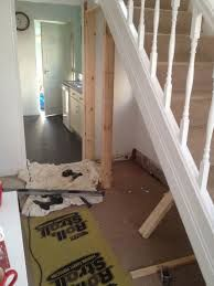 Studding Out An Area Under The Stairs For A Downstairs Toilet With Bathroom Installation In Leeds Stair Shelves, Stair Storage, Basement Storage, Storage Room, Downstairs Cloakroom, Downstairs Toilet, Ikea, Understairs Toilet, Understairs Ideas