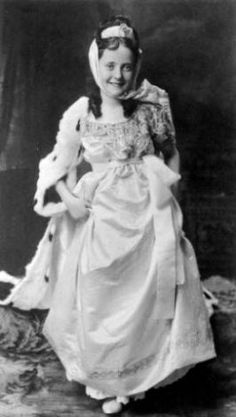 Margaret's daughter and my Grandmother, Helen Brown. Later she would become Helen Brown Benziger. This was taken when she was Princess of The International Fair. ( Yes, that is sable on her cape ) The fair was the brainchild of Margaret. She raised enough money to help complete the Cathedral in Denver. Here;s an off fact. When Margaret was saved from the sinking her lifeboat was #6. It was also her pew number in the Cathedral. hmmmmmm