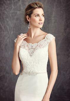 Kenneth Winston: Ella Rosa Collection BE296 A-Line Wedding Dress